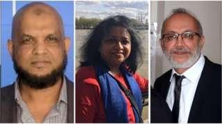 Anwar Hussain Oli, Dr Louisa Rajakumari and Dr Yusuf Patel