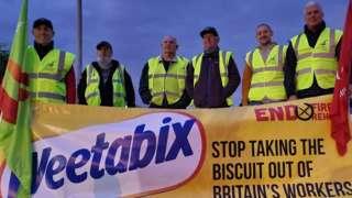 Weetabix engineers strike in Corby