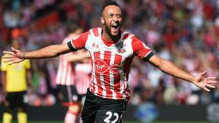 Nathan Redmond celebrates equalising for Southampton against Watford