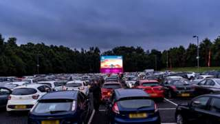 drive-in at Lomond Shores