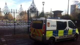 Police cordon around Weston Park, Sheffield