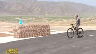 Turkmen President Berdimuhamedow at shooting range, June 2019