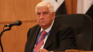 File photo showing Syrian Foreign Minister Walid Muallem in Damascus on 7 September 2020