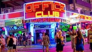 Punta Ballena in June 2014 it's the popular strip in Magaluf