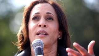 V-P-elect Kamala Harris at a campaign event in Georgia.
