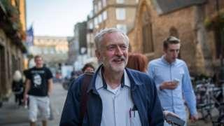Jeremy Corbyn in Cambridge