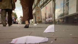 Litter on the street