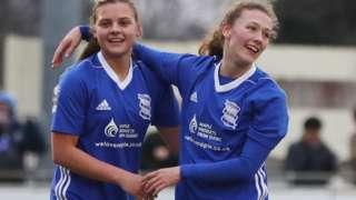 Birmingham City Ladies celebrate against Bristol City Women