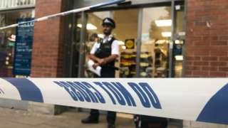Police tape at Tesco