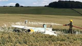 Scene of plane crash