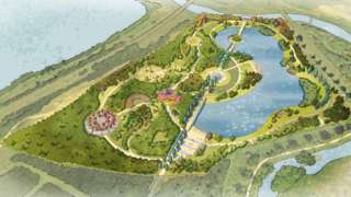An artist's impression of the memorial woodland