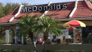 A McDonald's restaurant in Florida