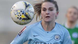 Melissa Lawley in action for Manchester City Women