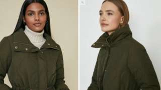 Coats on the website