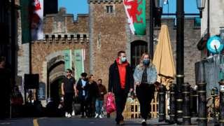 People walking in Cardiff