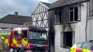 Fire at Swansea house