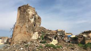 Mosul minaret destroyed by IS