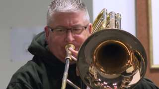 Charlie Farren is a trombonist and the chairman of Whitburn Band