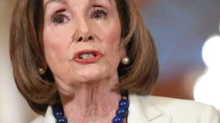 US Speaker of the House Nancy Pelosi speaks about the impeachment inquiry