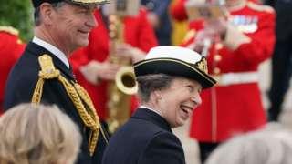 The Princess Royal with Vice Admiral Sir Tim Laurence