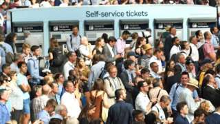 Delayed passengers at London Waterloo