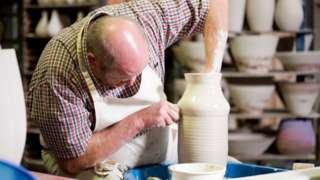 Potter at Poole Pottery