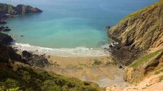 A beach on the island of Sark
