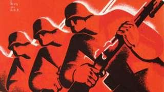 Detail of Spanish Civil War postcard