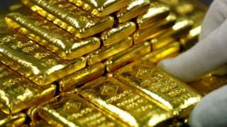 File picture of gold bars