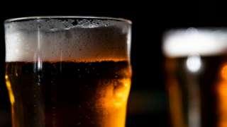 Beer inside glass