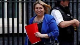 Karen Bradley in Downing Street