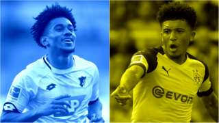 Reiss Nelson (left) and Jadon Sancho