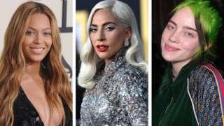Beyonce, Lady Gaga and Billie Eilish