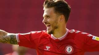 Bristol City's Jamie Paterson celebrates scoring a goal