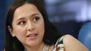 Манижа Сангин на пресс-конференции, посвященной проблемам беженцев