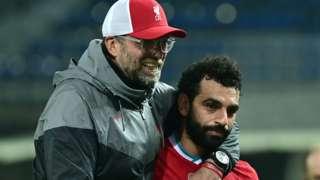 Liverpool manager Jurgen Klopp (left) and striker Mohamed Salah