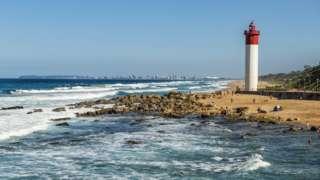 A lighthouse near Durban in South Africa