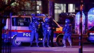 Police officers in Vienna. 3 Nov 2020