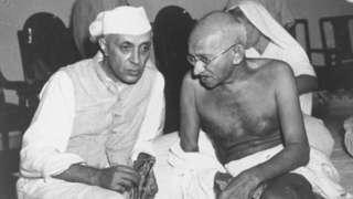 पंडित नेहरू, महात्मा गांधी, सामना, शिवसेना