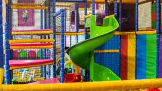 A general view of an empty play area in a children's play centre