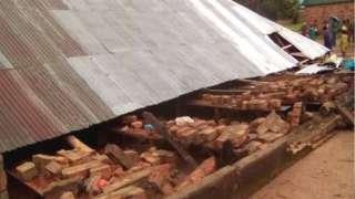Church collapse in Taraba