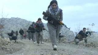 Female Komala recruits train in the mountains of Iraqi Kurdistan