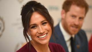 Meghan, Duchess of Sussex and Prince Harry, Duke of Sussex attend a roundtable discussion on gender equality with The Queens Commonwealth Trust (QCT) and One Young World at Windsor Castle on October 25, 2019