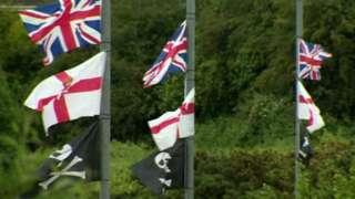 Lisburn loyalist flags