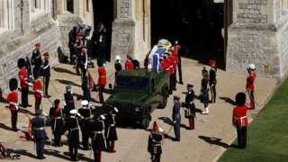 The Duke of Edinburgh's coffin