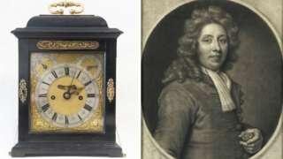 clock and Thomas Tompion