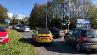 Security alert at Ashgrove Road