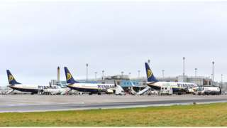 Ryanair planes grounded at
