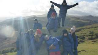 Children from Knightlow Primary School