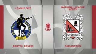 Bristol Rovers v Darlington badge graphic